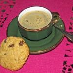 Kaffe och havrekaka, gott!