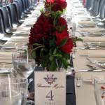 Snyggt dukade bord i Kronenbourgs färger